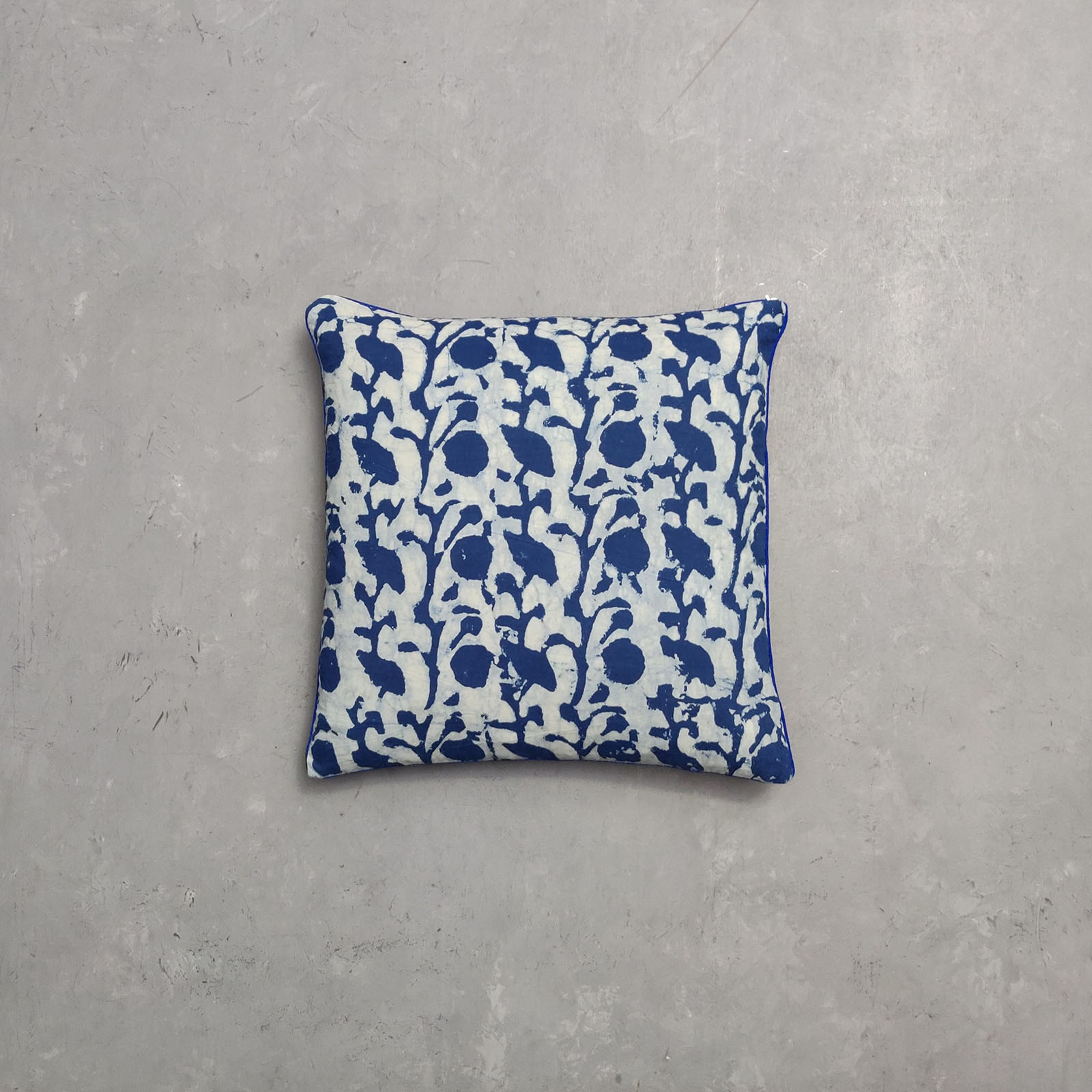 Reversible Indigo Handblock Printed Cushion Cover CC16