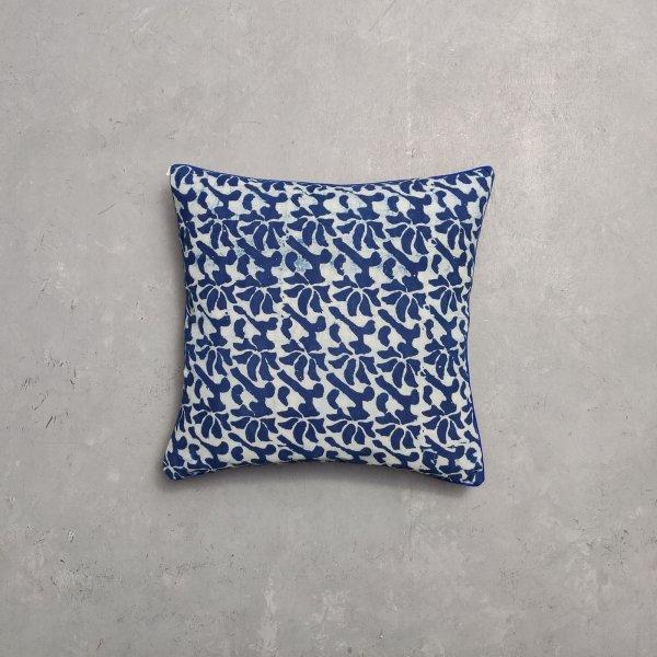 Reversible Indigo Handblock Printed Cushion Cover CC24