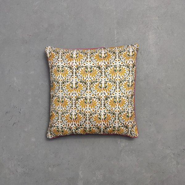 Reversible Multi Handblock Printed Cushion Cover CC27