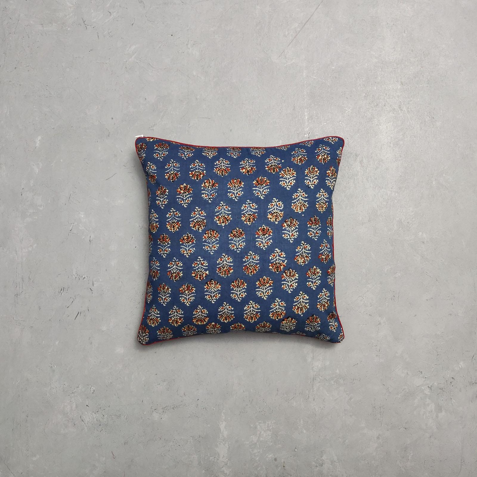 Reversible Ajrakh Handblock Printed Cushion Cover CC30