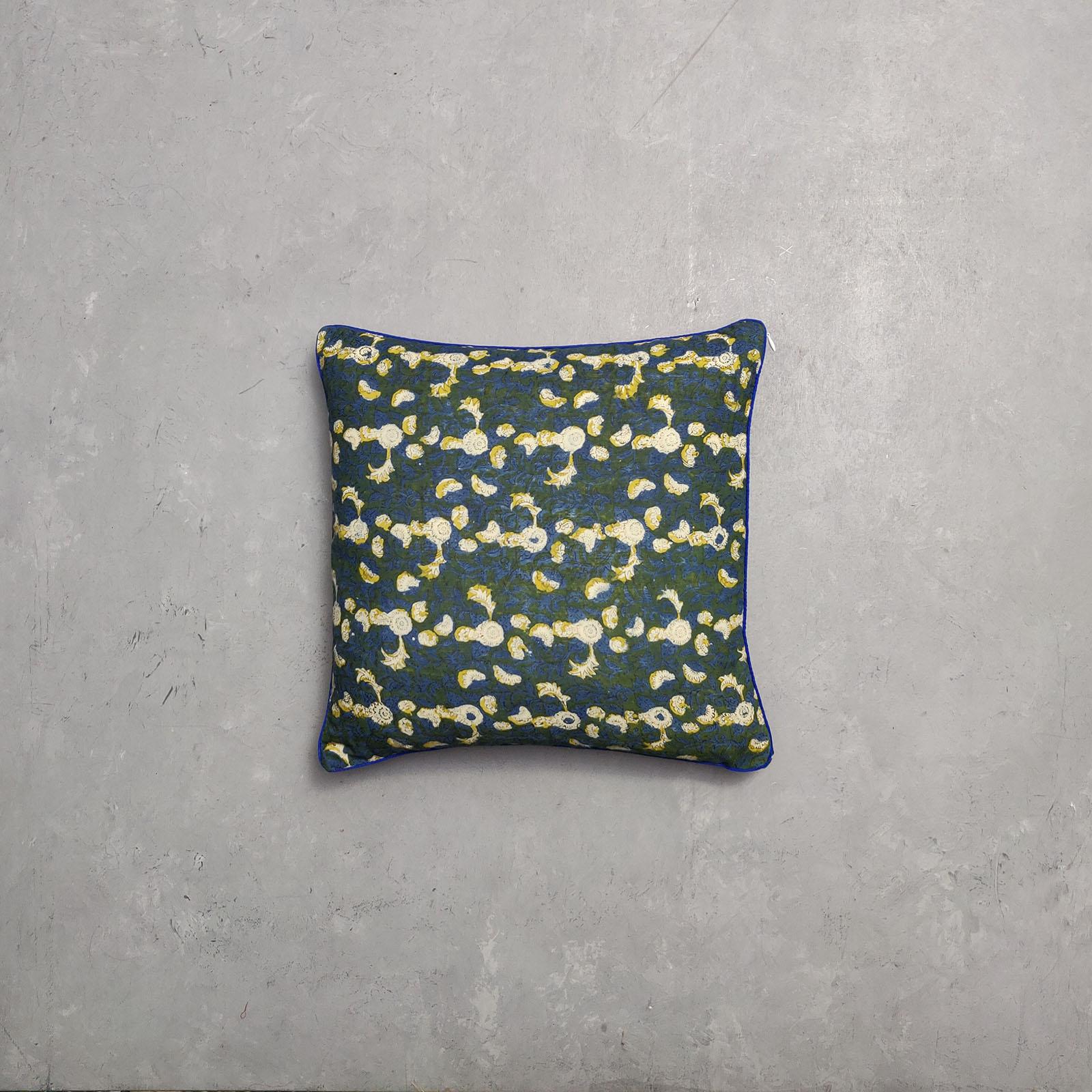 Reversible Dabu Handblock Printed Cushion Cover CC34