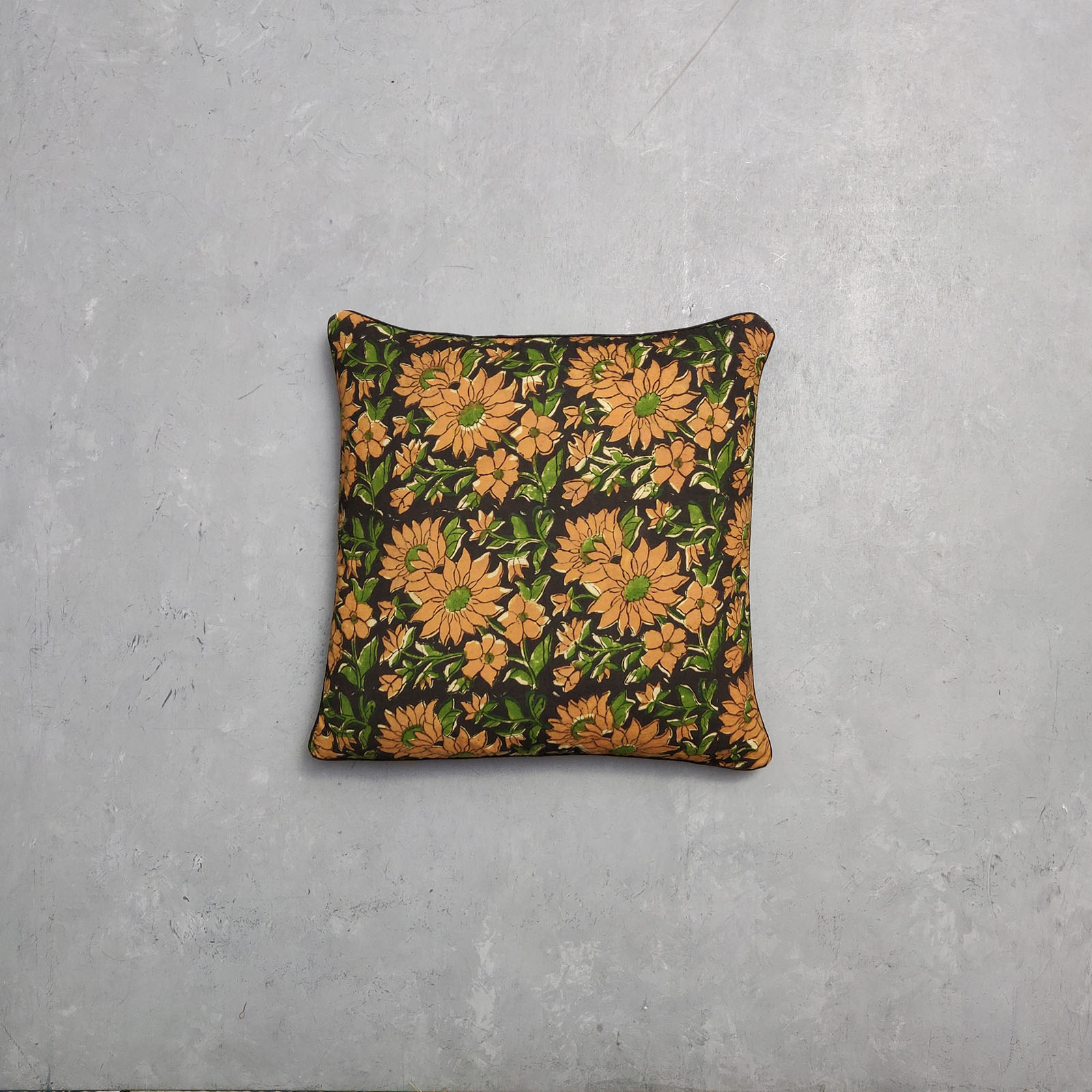 Reversible Dabu Handblock Printed Cushion Cover CC35