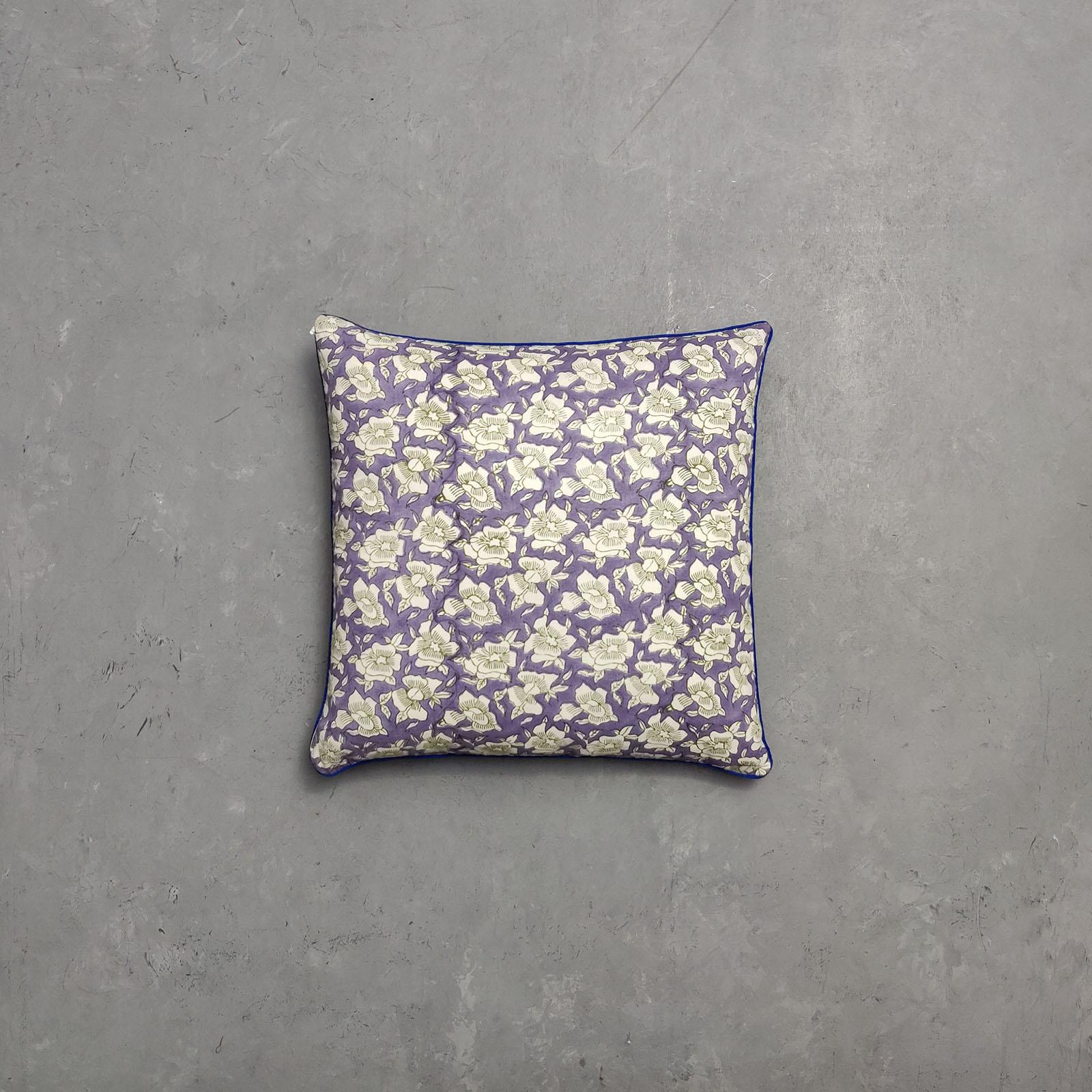 Reversible Multi Handblock Printed Cushion Cover CC37