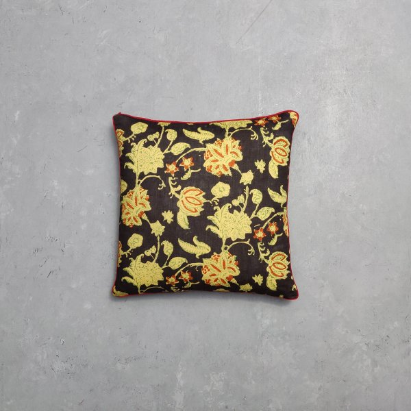 Reversible Multi Handblock Printed Cushion Cover CC44