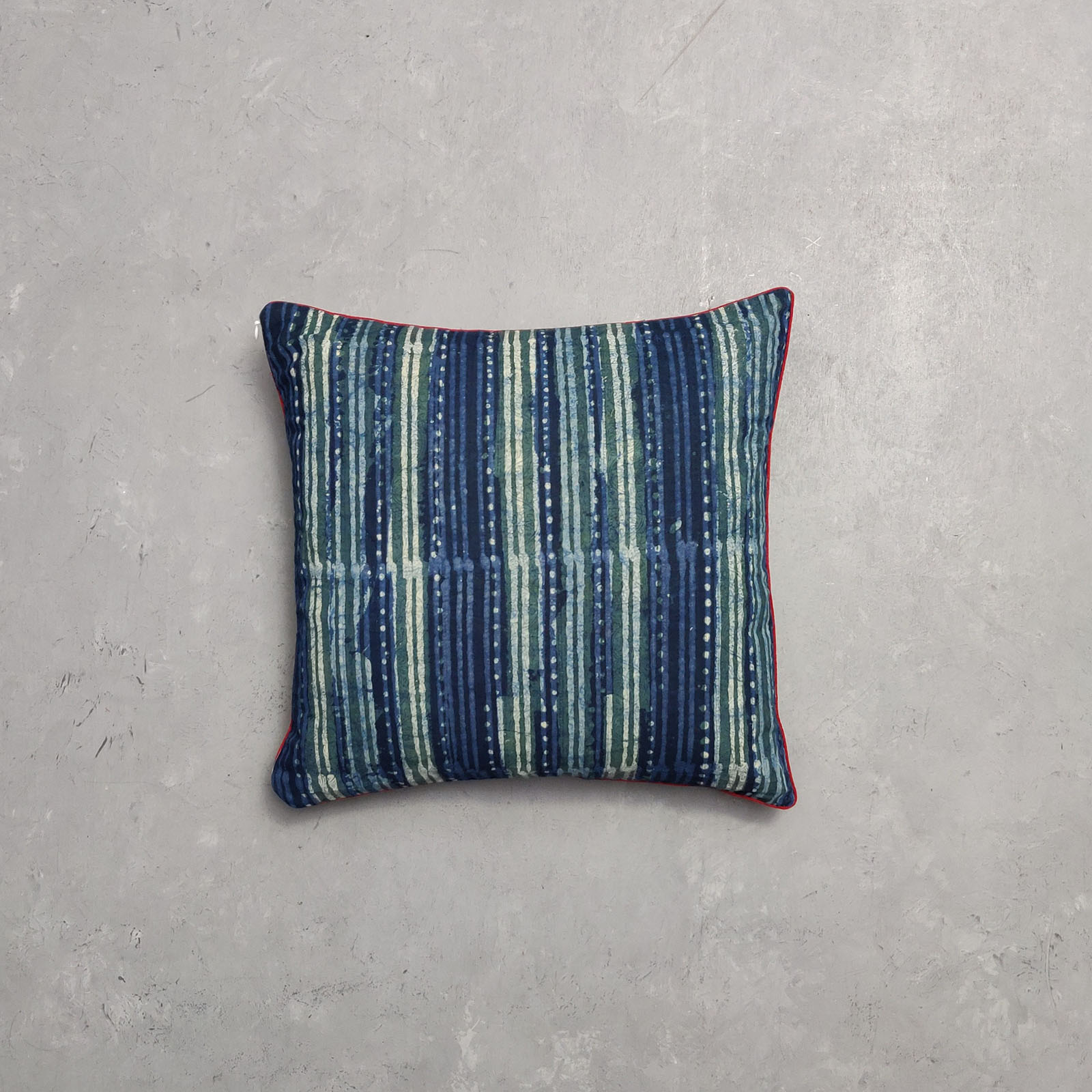 Reversible Dabu Handblock Printed Cushion Cover CC47