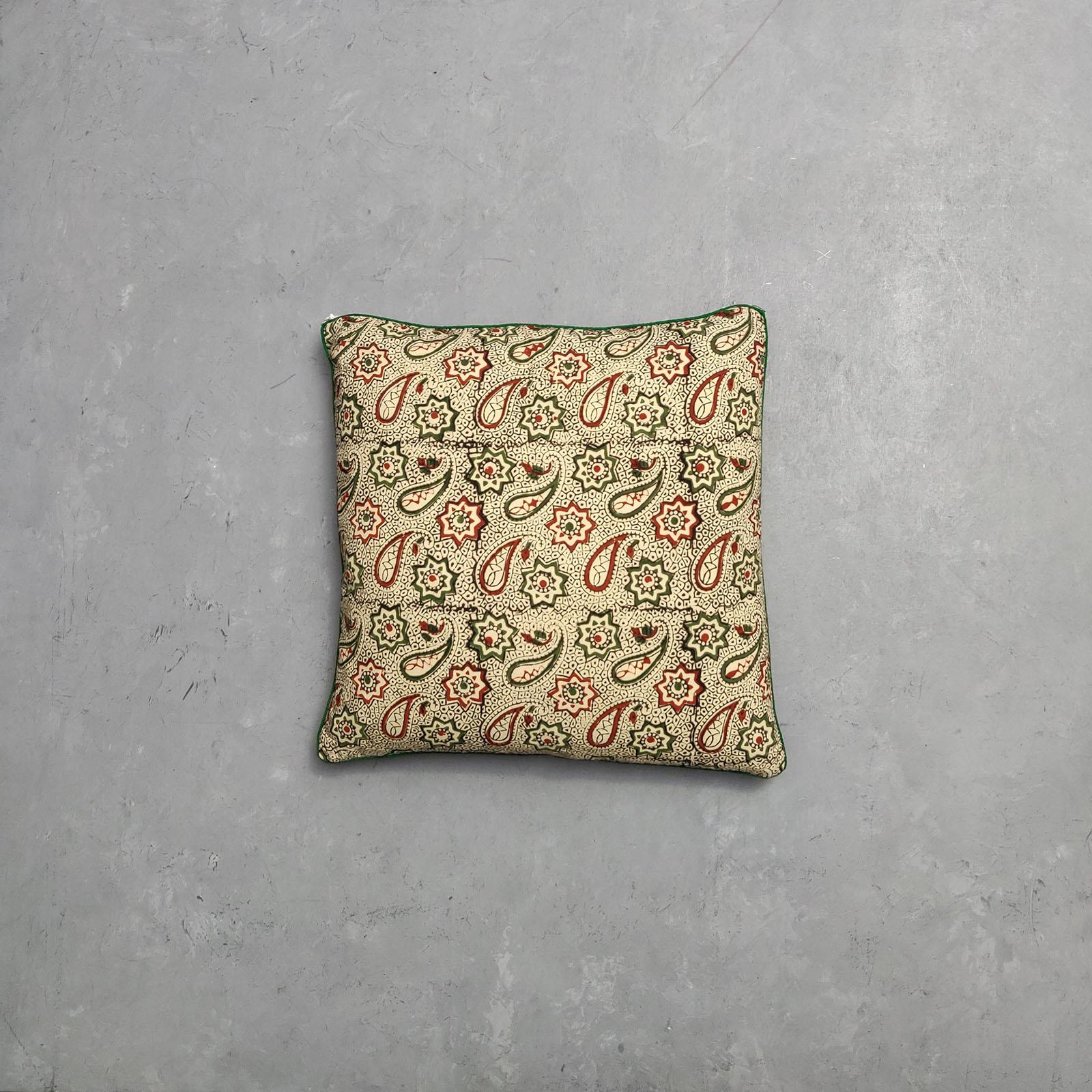 Reversible Bagru Handblock Printed Cushion Cover CC61