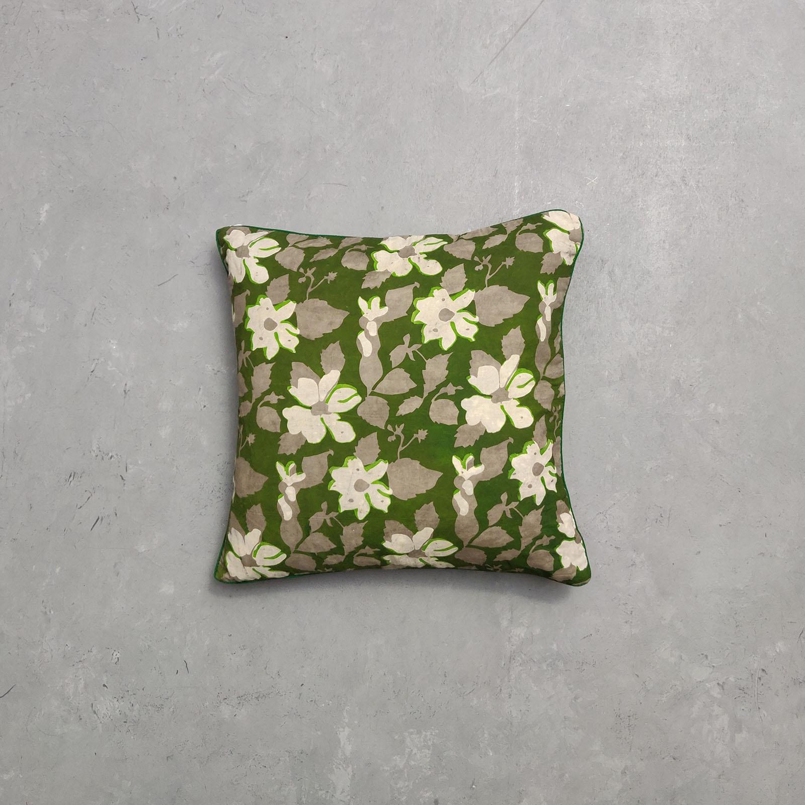 Reversible Multi Handblock Printed Cushion Cover CC66