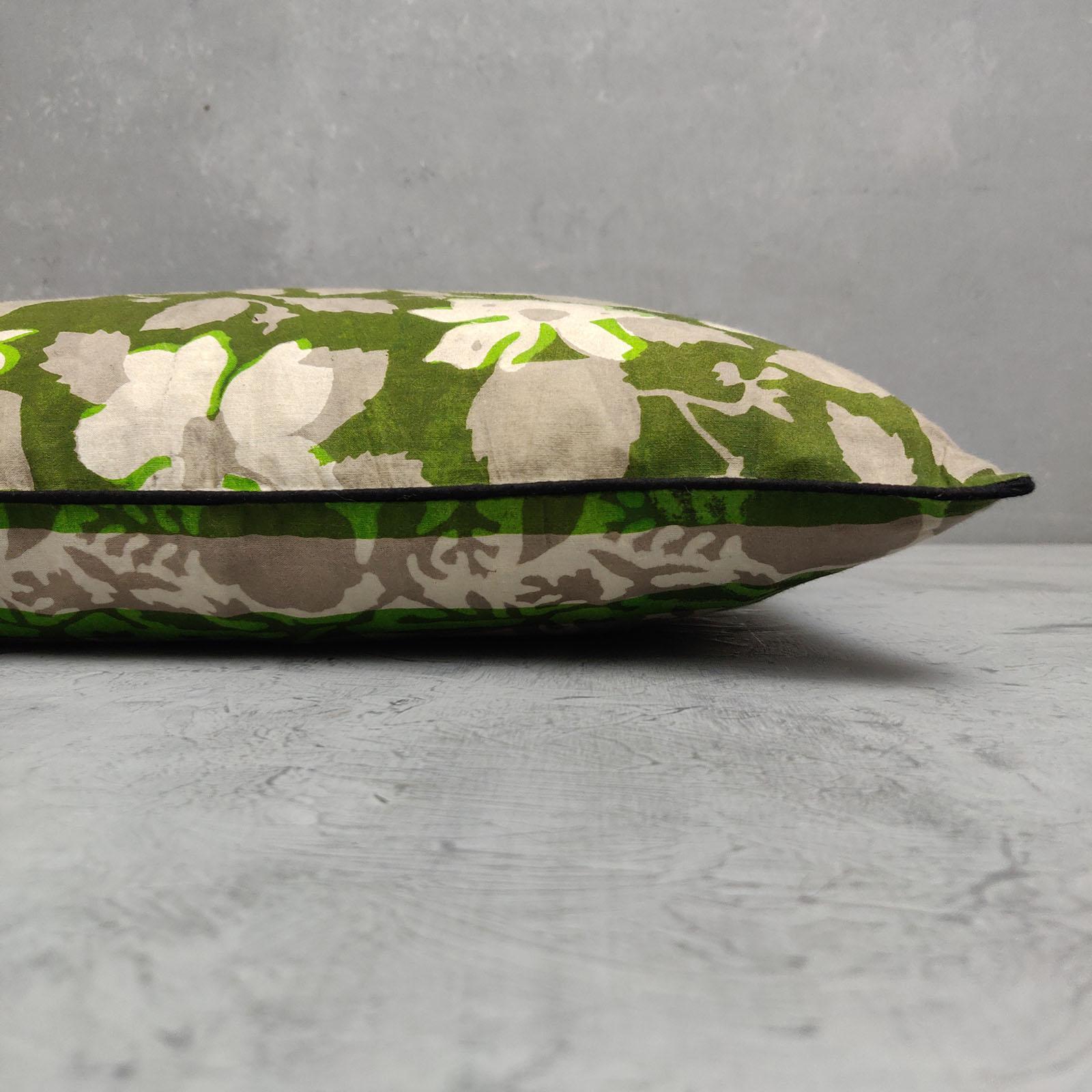 Reversible Dabu Handblock Printed Cushion Cover CC75