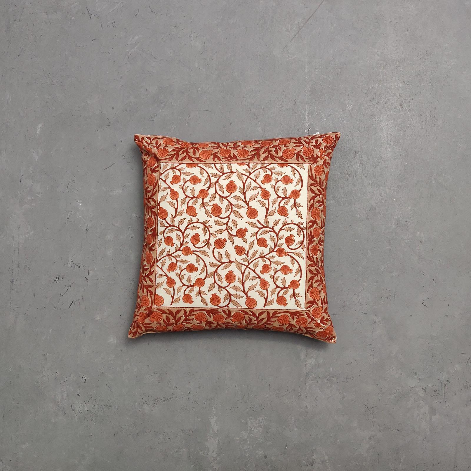Reversible Multi Handblock Printed Cushion Cover CC77