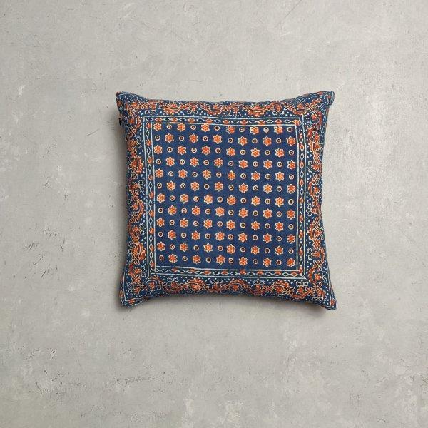 Reversible Ajrakh Handblock Printed Cushion Cover CC80