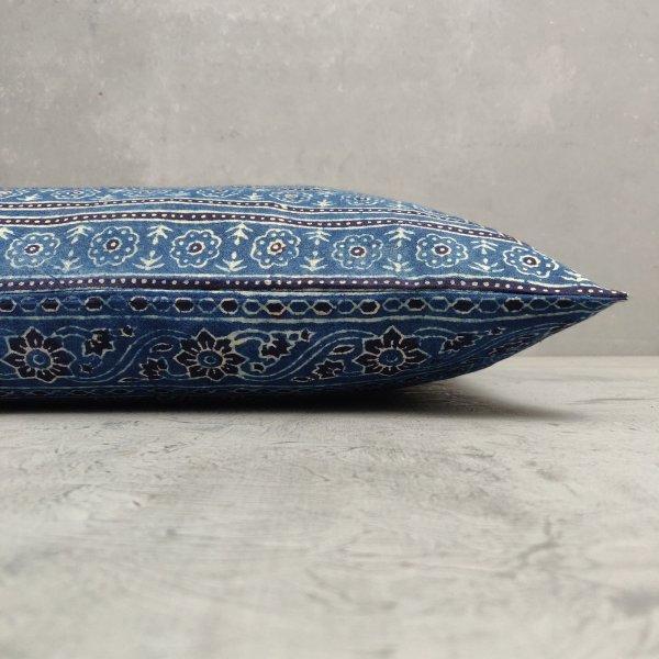 Reversible Ajrakh Handblock Printed Cushion Cover CC87