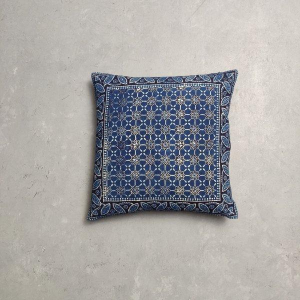 Reversible Ajrakh Handblock Printed Cushion Cover CC96