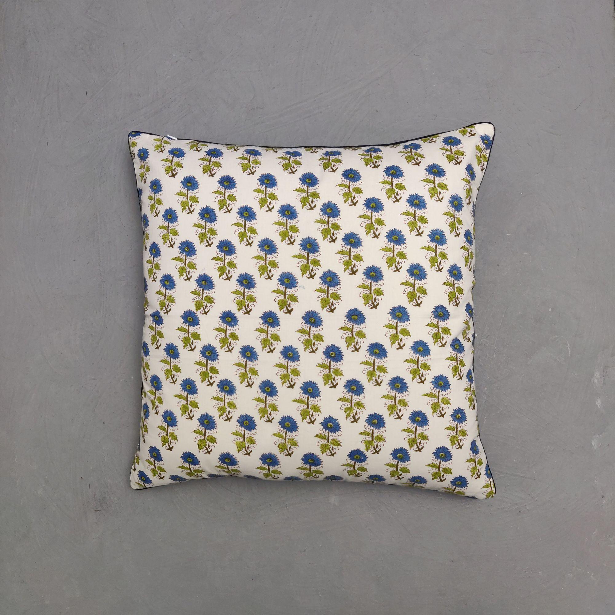 Reversible Handblock Printed Cushion Cover 24CCP108