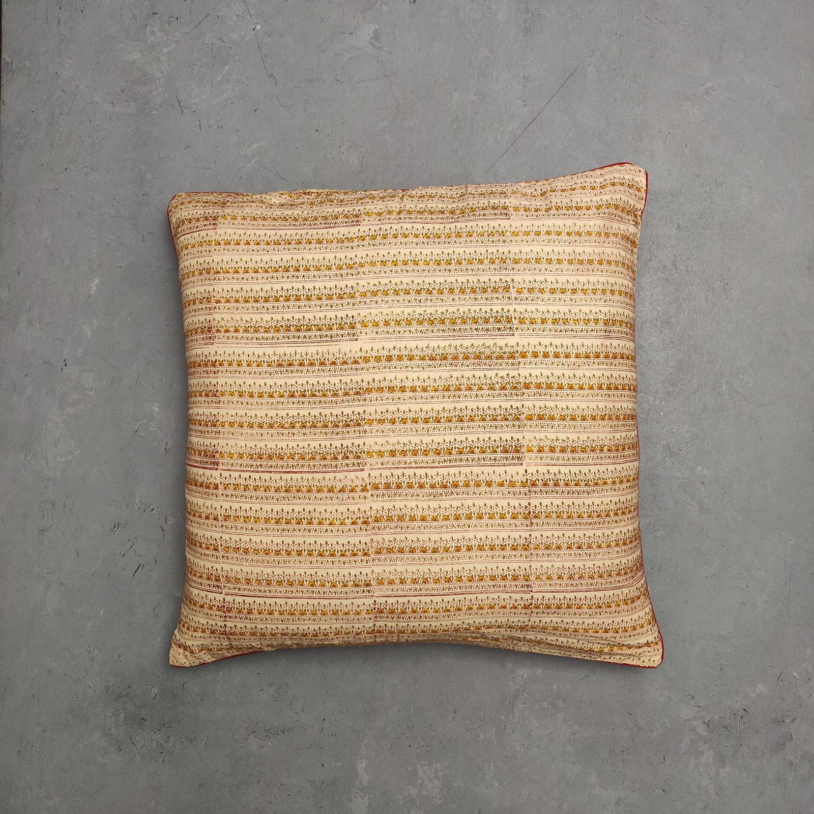 Reversible Handblock Printed Cushion Cover 24CCP10
