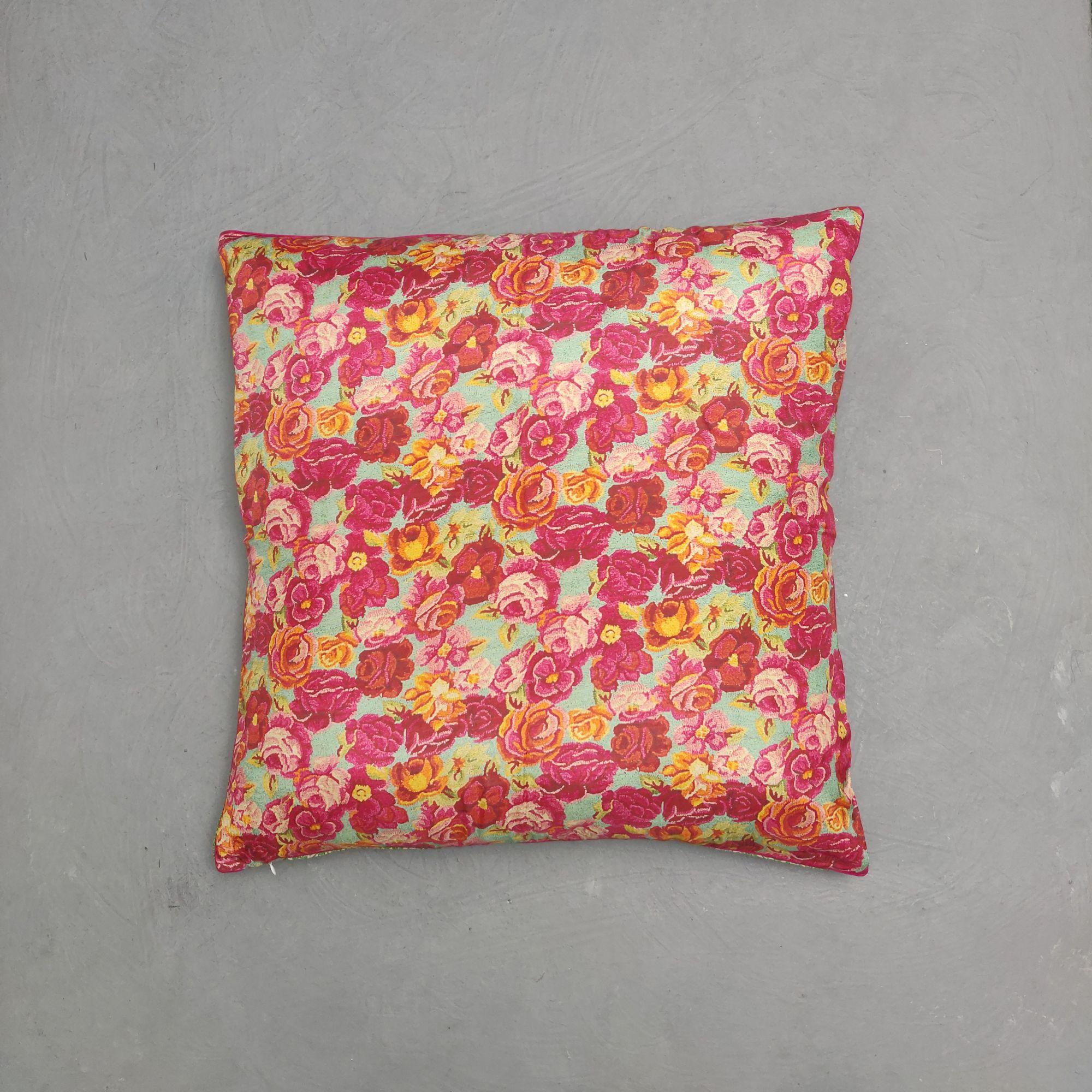 Reversible Handblock Printed Cushion Cover 24CCP113