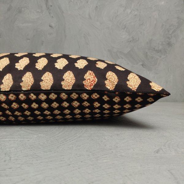Reversible Handblock Printed Cushion Cover 24CCP120