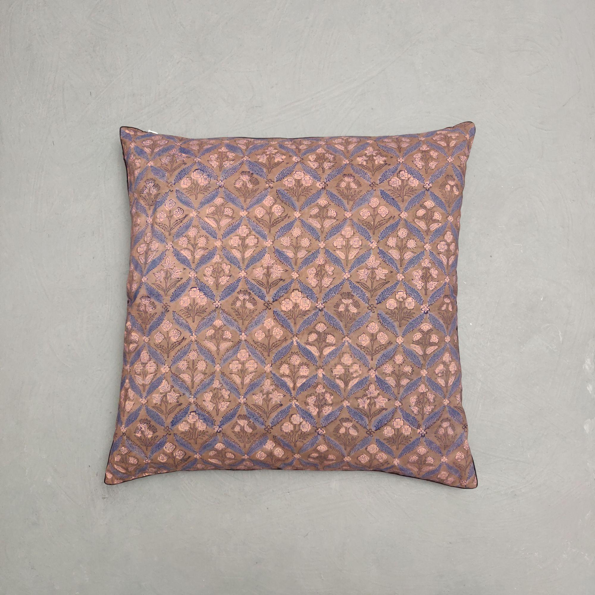 Reversible Handblock Printed Cushion Cover 24CCP122