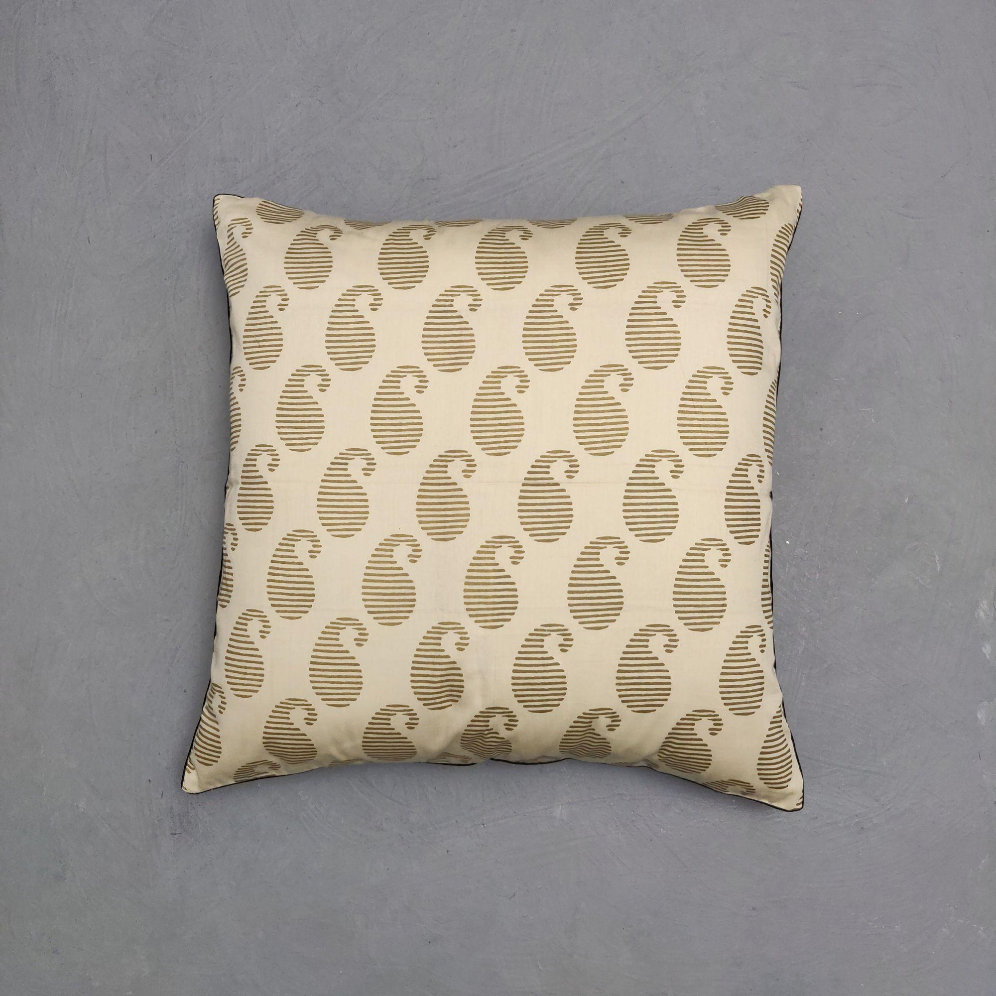 Reversible Handblock Printed Cushion Cover 24CCP125
