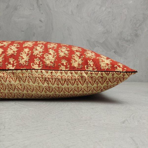 Reversible Handblock Printed Cushion Cover 24CCP126