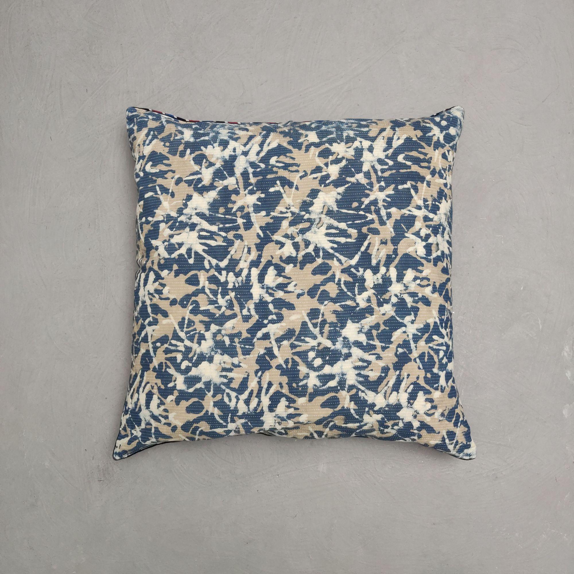 Reversible Handblock Printed Cushion Cover 24CCP127