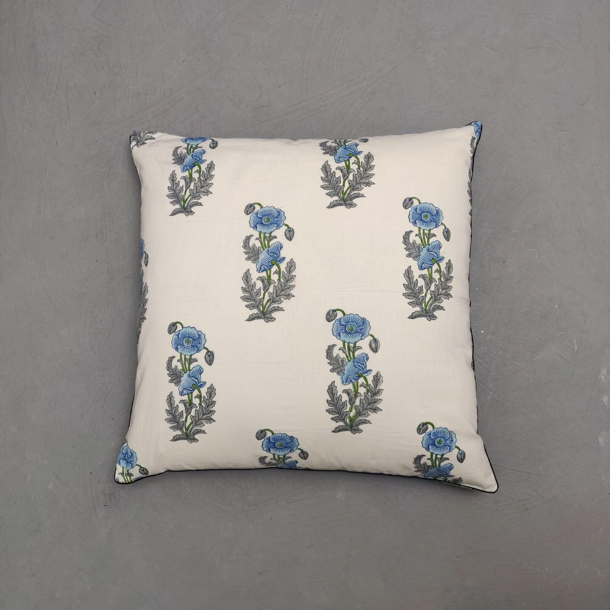 Reversible Handblock Printed Cushion Cover 24CCP159