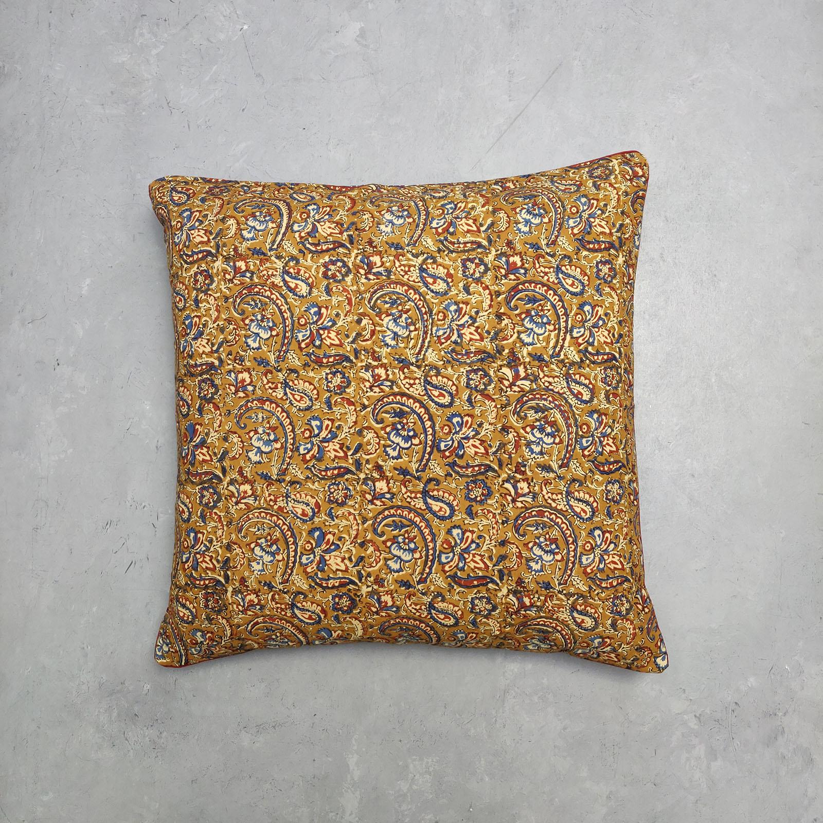 Reversible Handblock Printed Cushion Cover 24CCP16