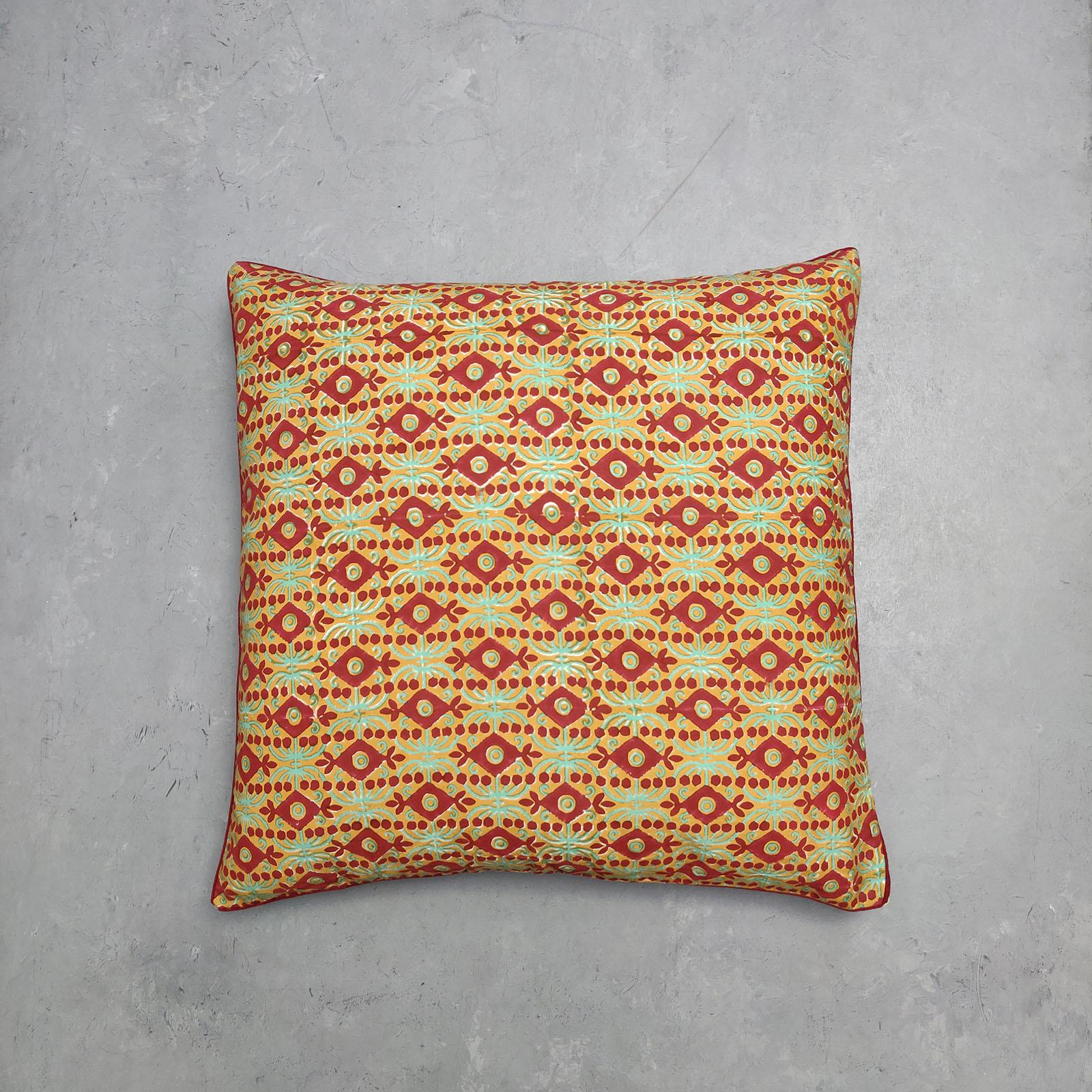 Reversible Handblock Printed Cushion Cover 24CCP24