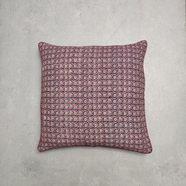 Reversible Handblock Printed Cushion Cover 24CCP27