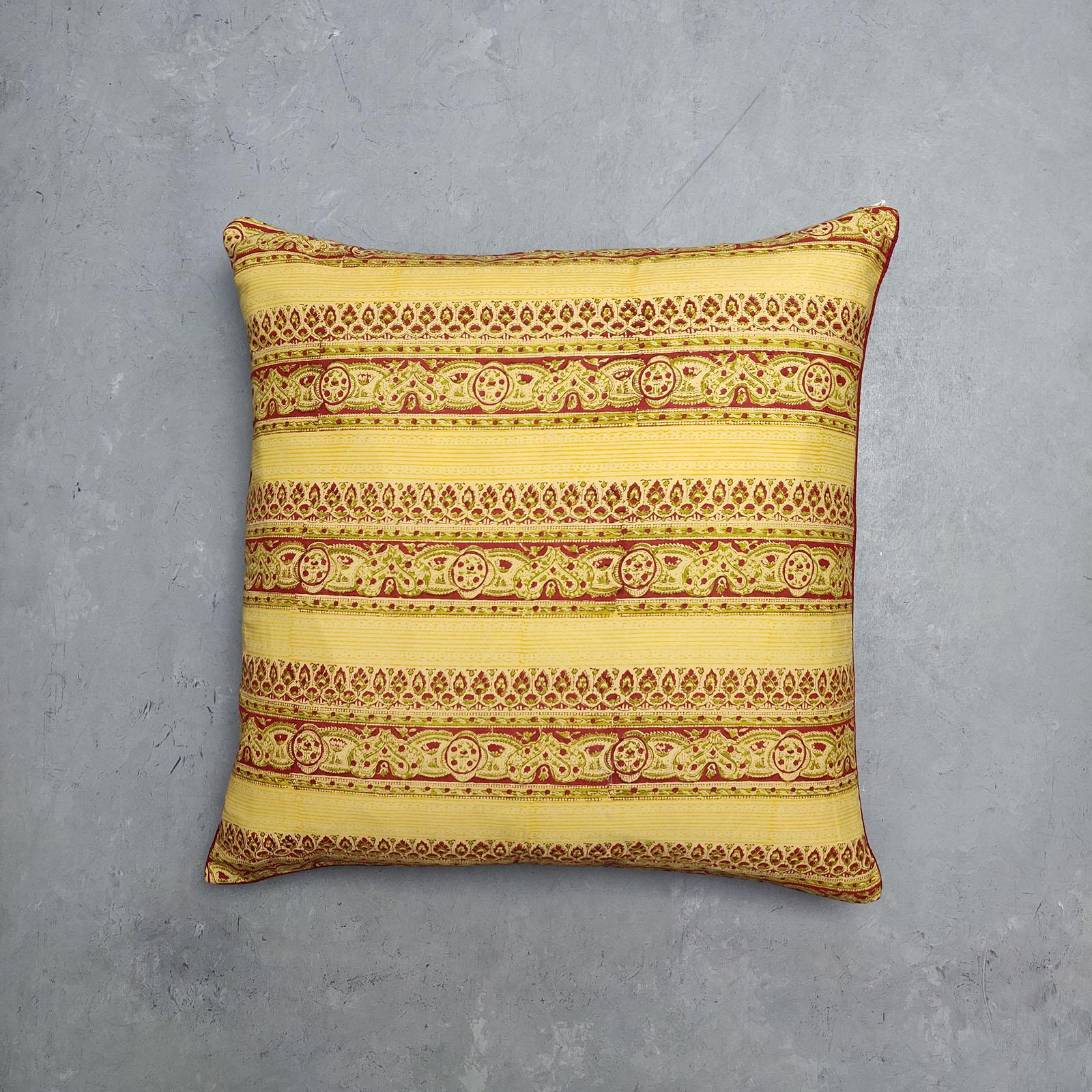 Reversible Handblock Printed Cushion Cover 24CCP2