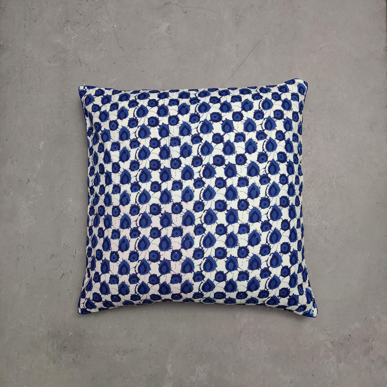 Reversible Handblock Printed Cushion Cover 24CCP36