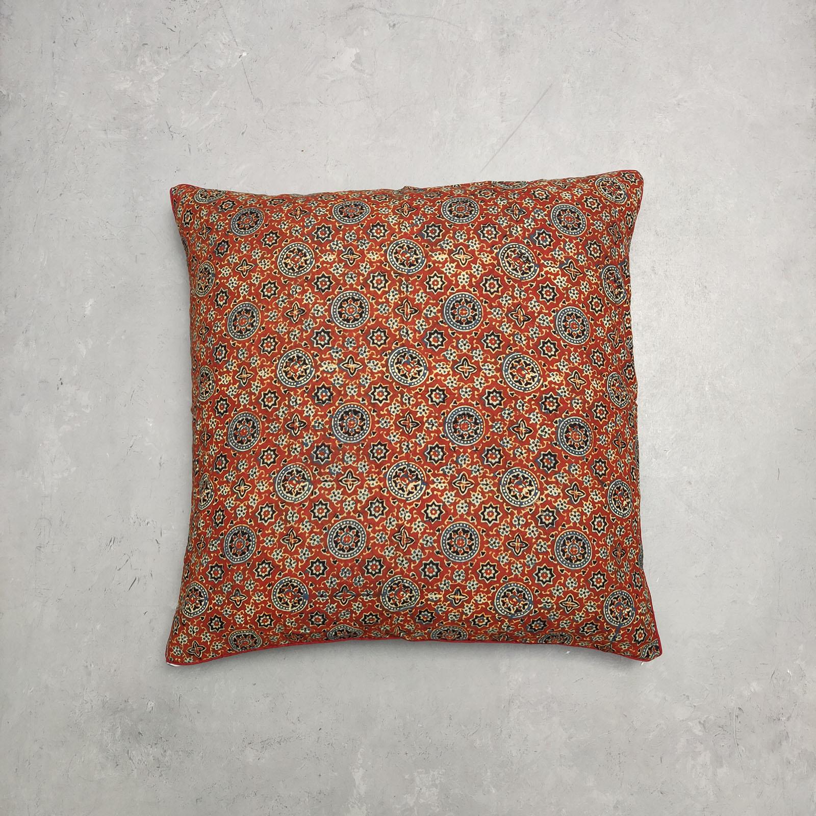 Reversible Handblock Printed Cushion Cover 24CCP41