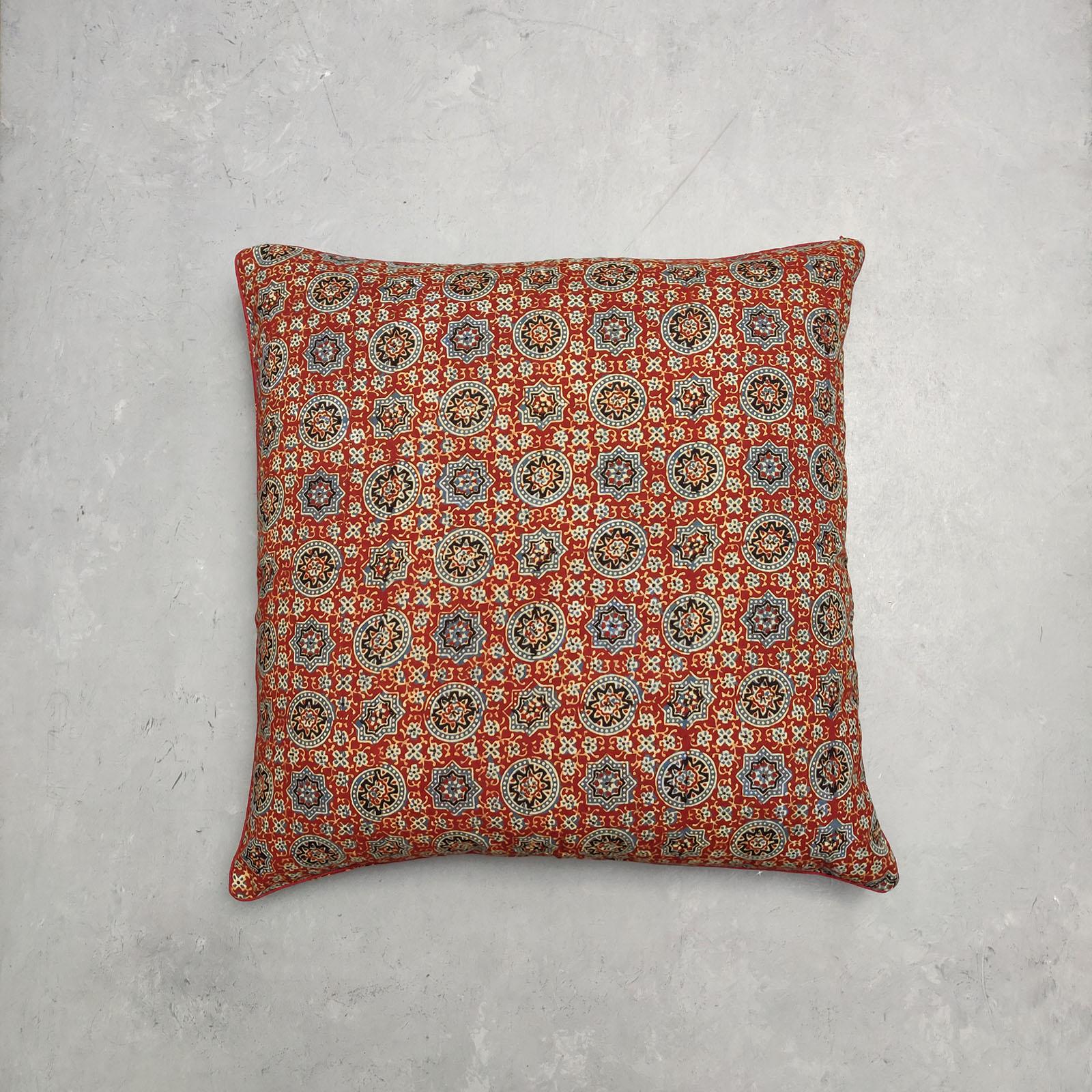 Reversible Handblock Printed Cushion Cover 24CCP43