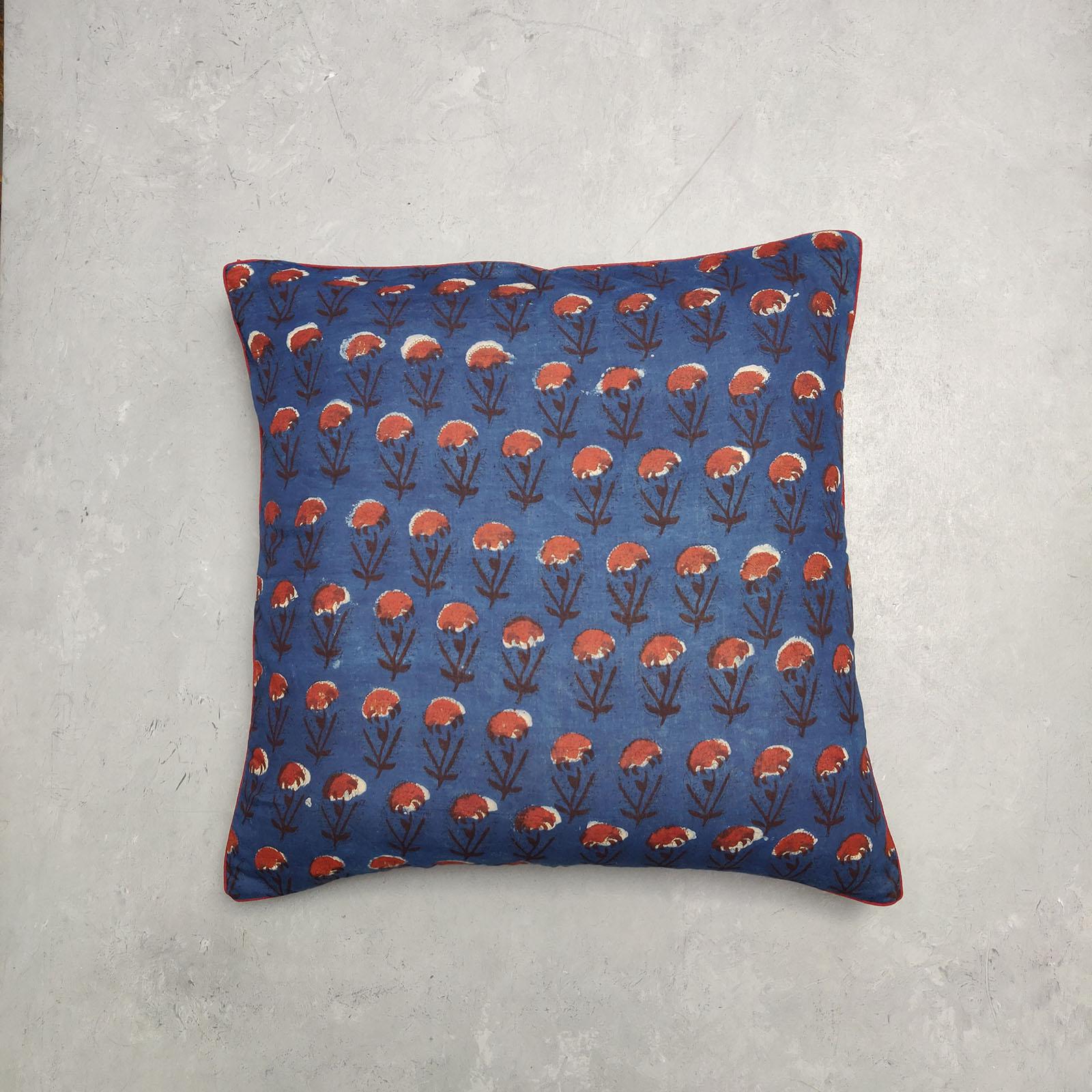 Reversible Handblock Printed Cushion Cover 24CCP47