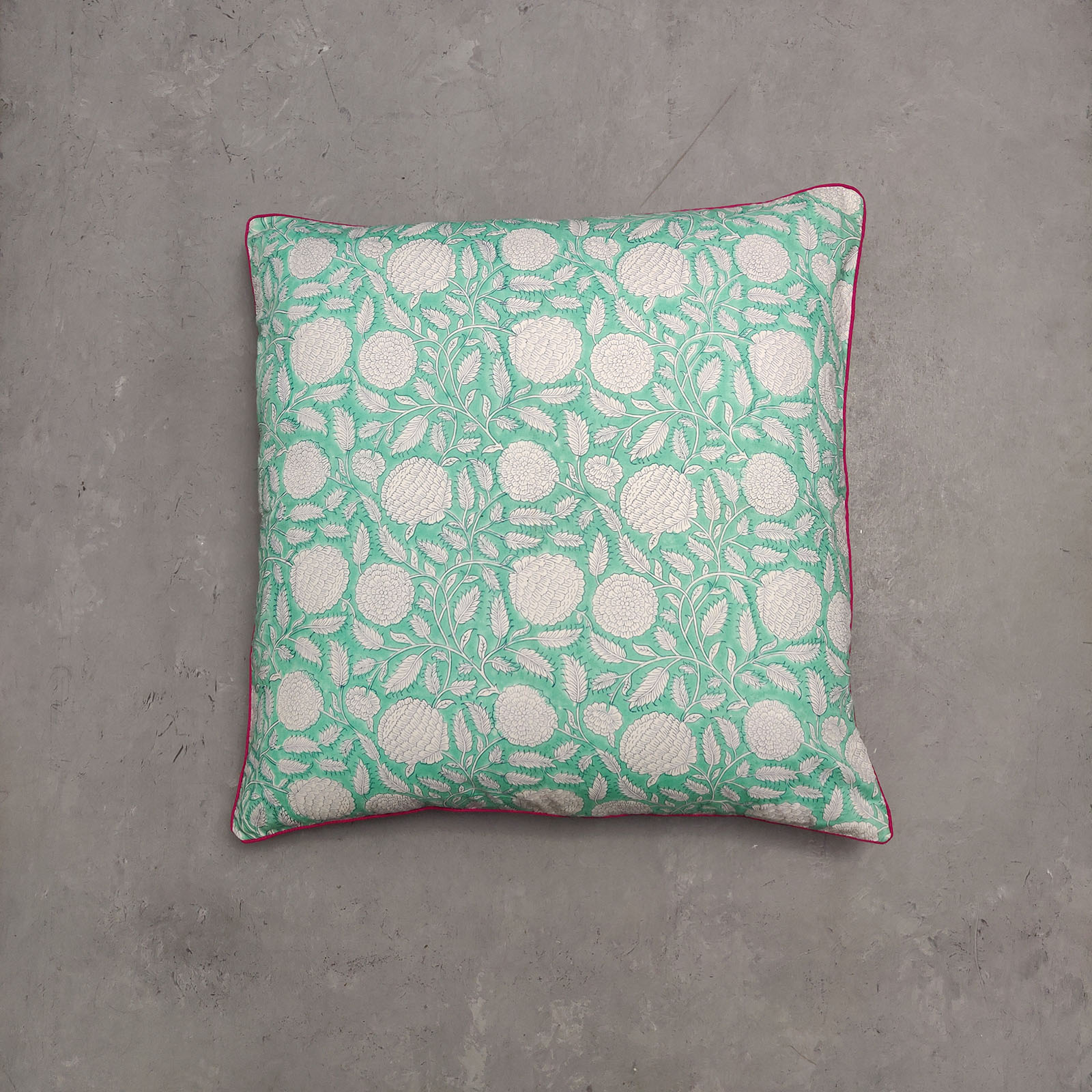 Reversible Handblock Printed Cushion Cover 24CCP48