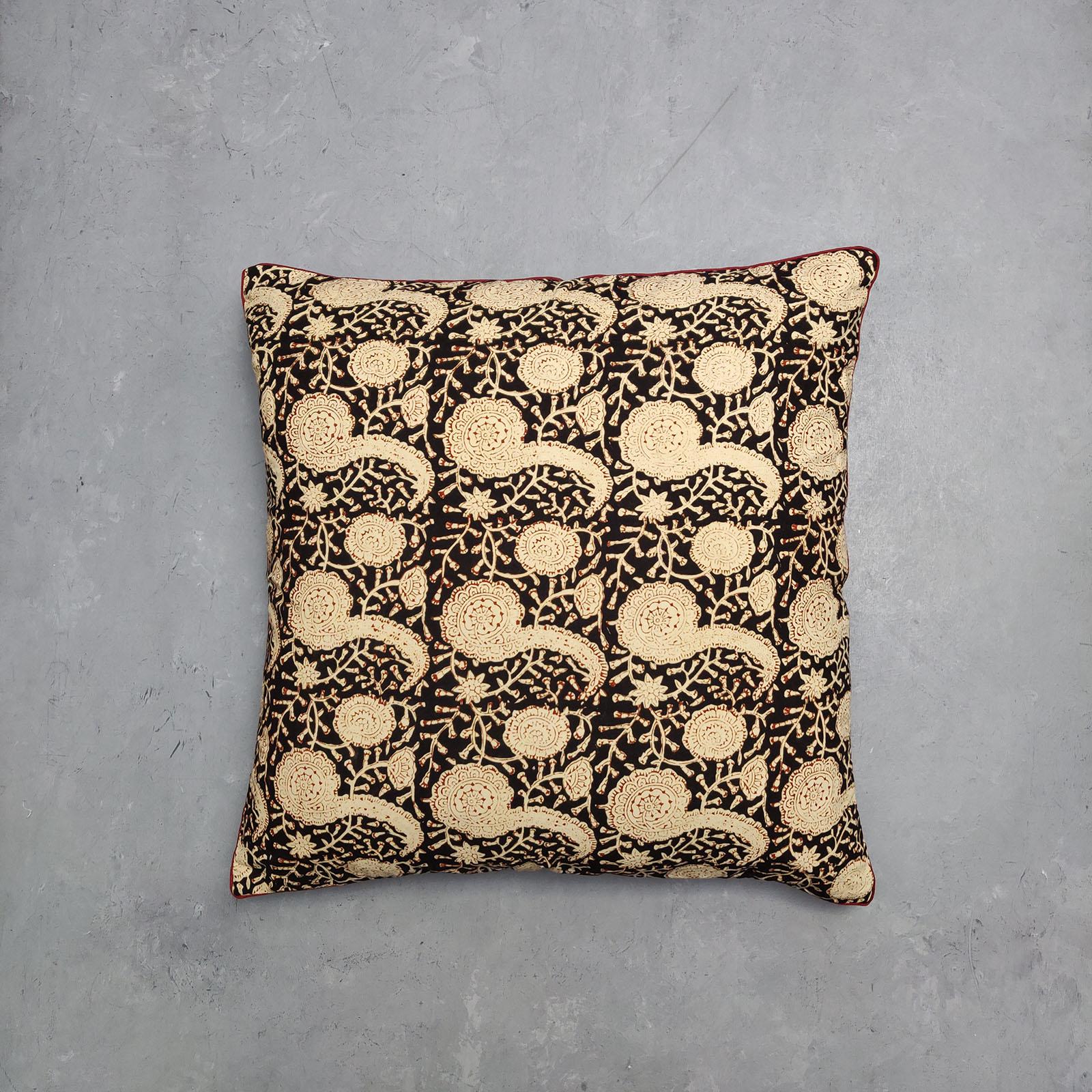 Reversible Handblock Printed Cushion Cover 24CCP59