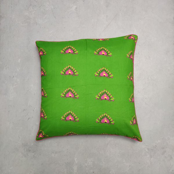 Reversible Handblock Printed Cushion Cover 24CCP63