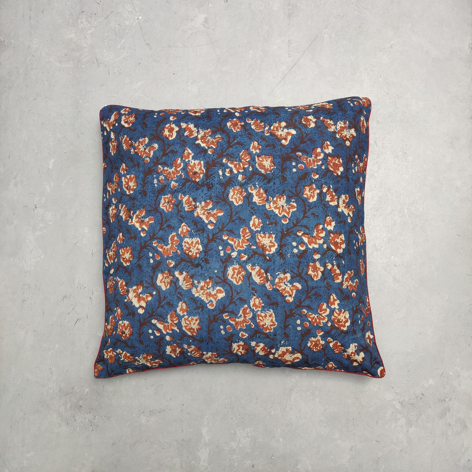 Reversible Handblock Printed Cushion Cover 24CCP67