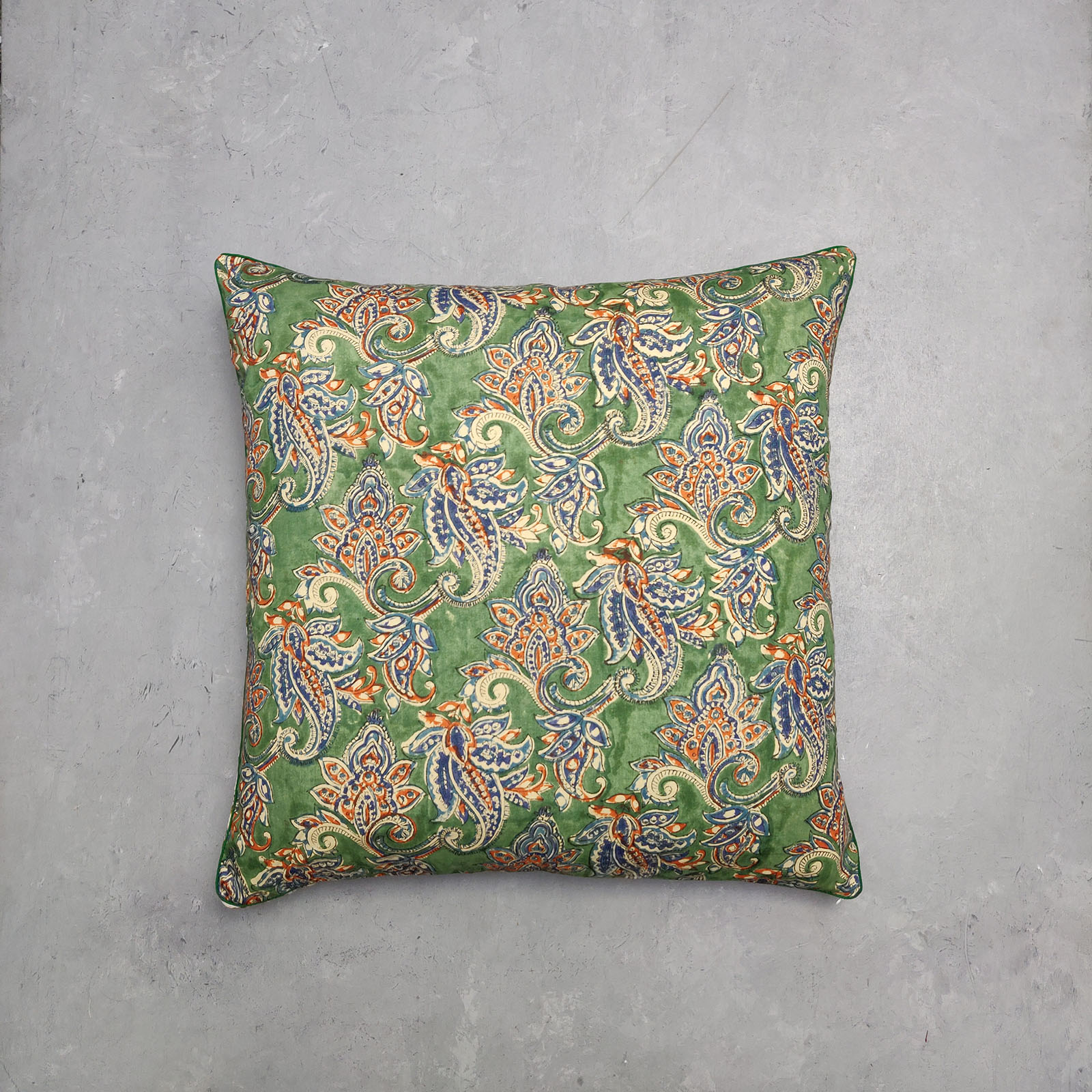 Reversible Handblock Printed Cushion Cover 24CCP74