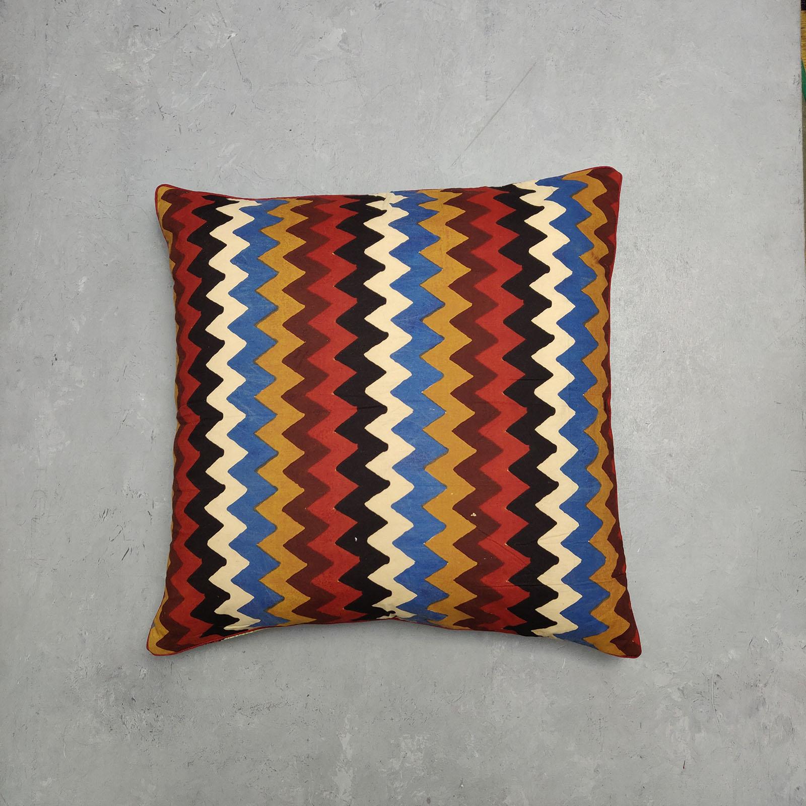 Reversible Handblock Printed Cushion Cover 24CCP75