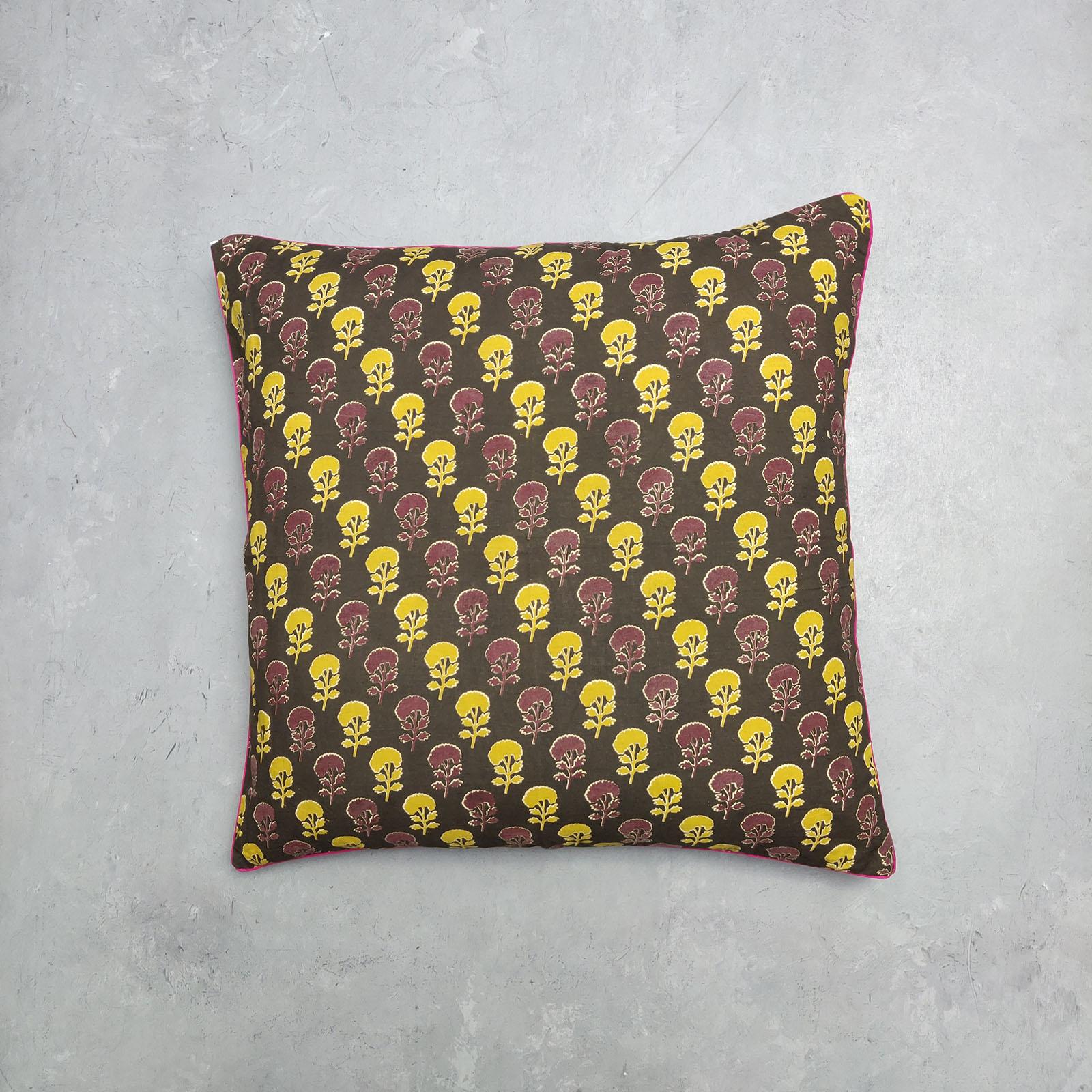 Reversible Handblock Printed Cushion Cover 24CCP78