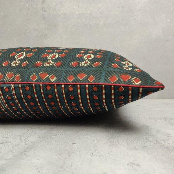 Reversible Handblock Printed Cushion Cover 24CCP79