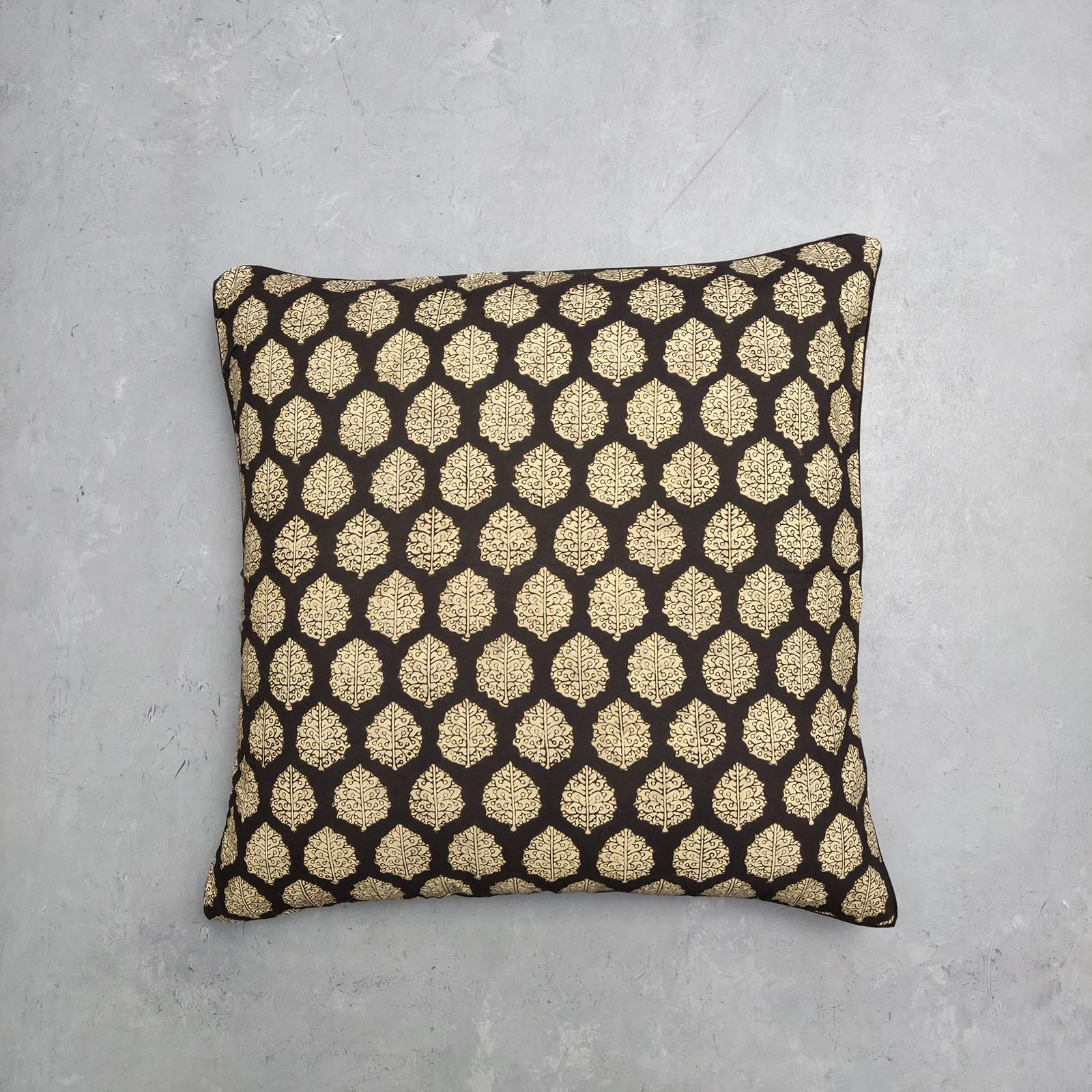 Reversible Handblock Printed Cushion Cover 24CCP7