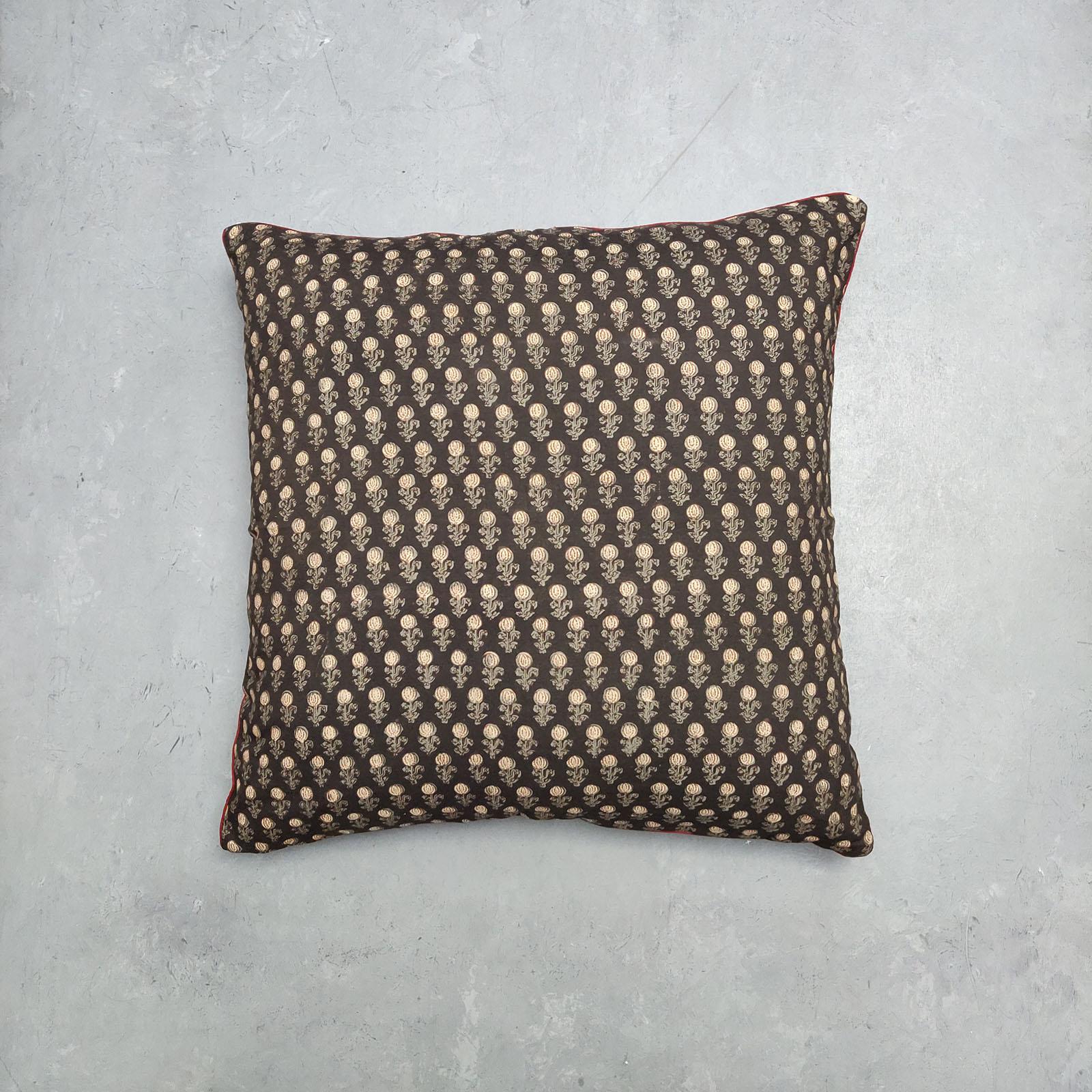 Reversible Handblock Printed Cushion Cover 24CCP87