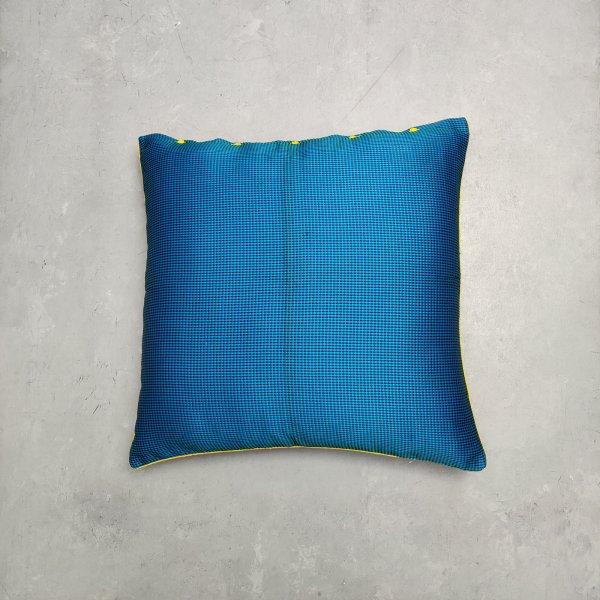 Reversible Handblock Brocade Cushion Cover 24CCP91