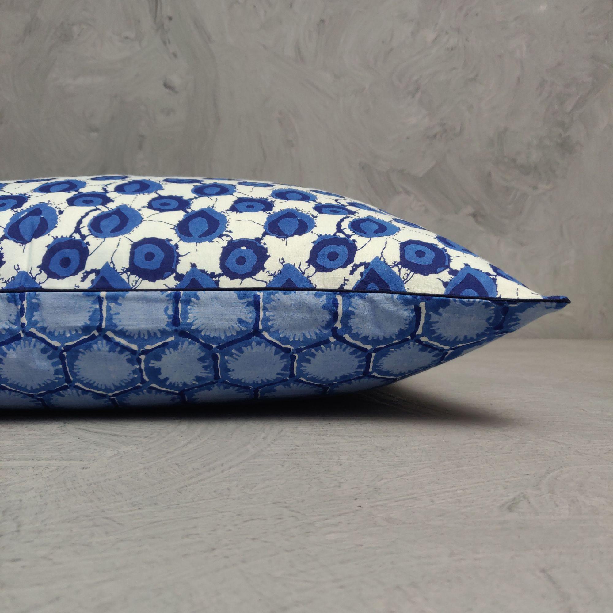 Reversible Handblock Printed Cushion Cover 24CCP94