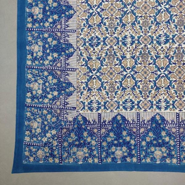 Floral Handblock Printed King Bedsheet K71