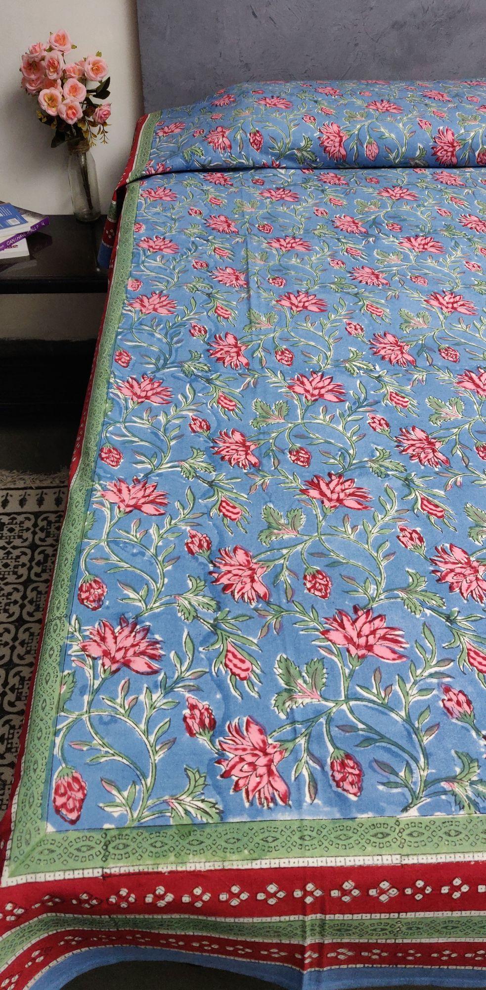 Handblock Single Bedsheet BHS103