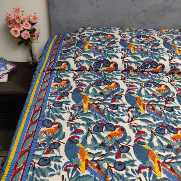Handblock Single Bedsheet BHS108