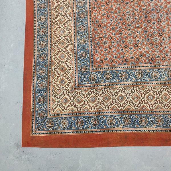 Ajrakh Handblock Single Bedsheet BHS113