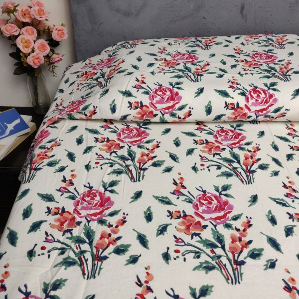 Handblock Single Bedsheet BHS127